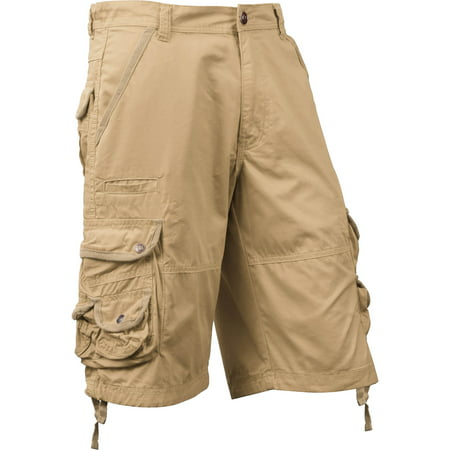 Ma Croix Mens Premium Utility Loose Fit Twill Cotton Multi Pocket Cargo Shorts Outdoor Wear Cotton Cargo Pocket Shorts