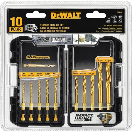 DeWalt Titanium Drill Bit Set, 10-Piece Impact Ready