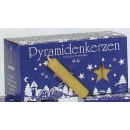 German Candle Carousel - 50 Honey 14mm diameter German Christmas Pyramid Candles Made in Germany