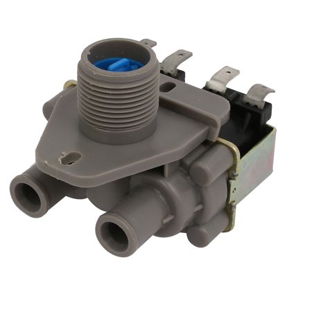 AC220V-240V 26mm Thread 10mm Tube Hole Washing Machine Water Solenoid Valve Gray - image 3 de 4