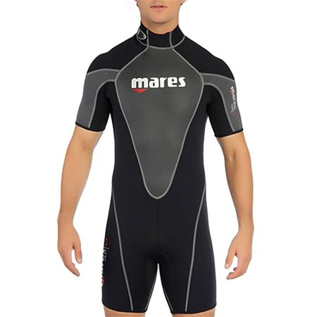 Mares Diving Gear (Mares Mens Reef 2.5mm Shorty Wetsuit (Black / Silver, 2X-Large) )