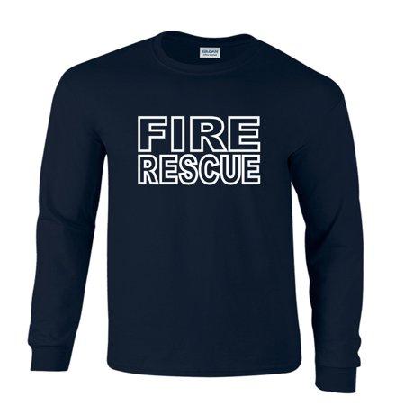 Fire Rescue Firefighter Duty Department Long Sleeve - Fire Department Tee Shirts