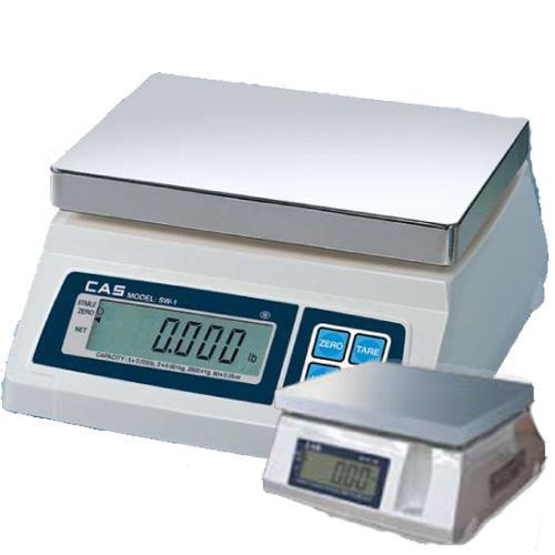 CAS SW-50-D Portable Digital Scale W  Dual Display  50 lb x 0 02 lb  Legal for T