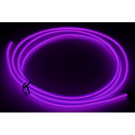 GlowCity Portable Ready To Go Light Up 5mm 5 Ft Max Glow EL Wire ...
