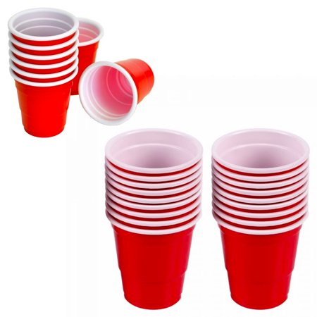 100 Mini Cups 2oz Plastic Shot Glasses Jello Jelly Drink Party Disposable Colors