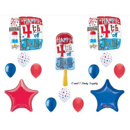 Usc Party Supplies (Popsicle 4th Fourth of July PARTY Balloons Decorations Supplies Cookout Patriotic)