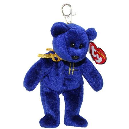 TY Beanie Baby - OMNIA the Bear ( Metal Key Clip - Harrods UK Exclusive ) (5.5 inch) Suck Uk Key