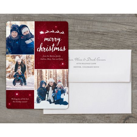 Twinkling Stars - Deluxe 5x7 Personalized Holiday Christmas - Twinkle Twinkle Little Star Invitation