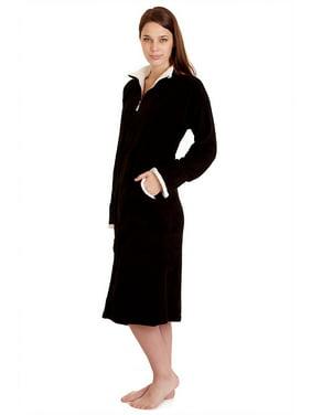 d9dcfbb4634a Product Image 114065 Women Spa Robe Long Plush Bath Robe Super Soft Thick  Warm Purple M