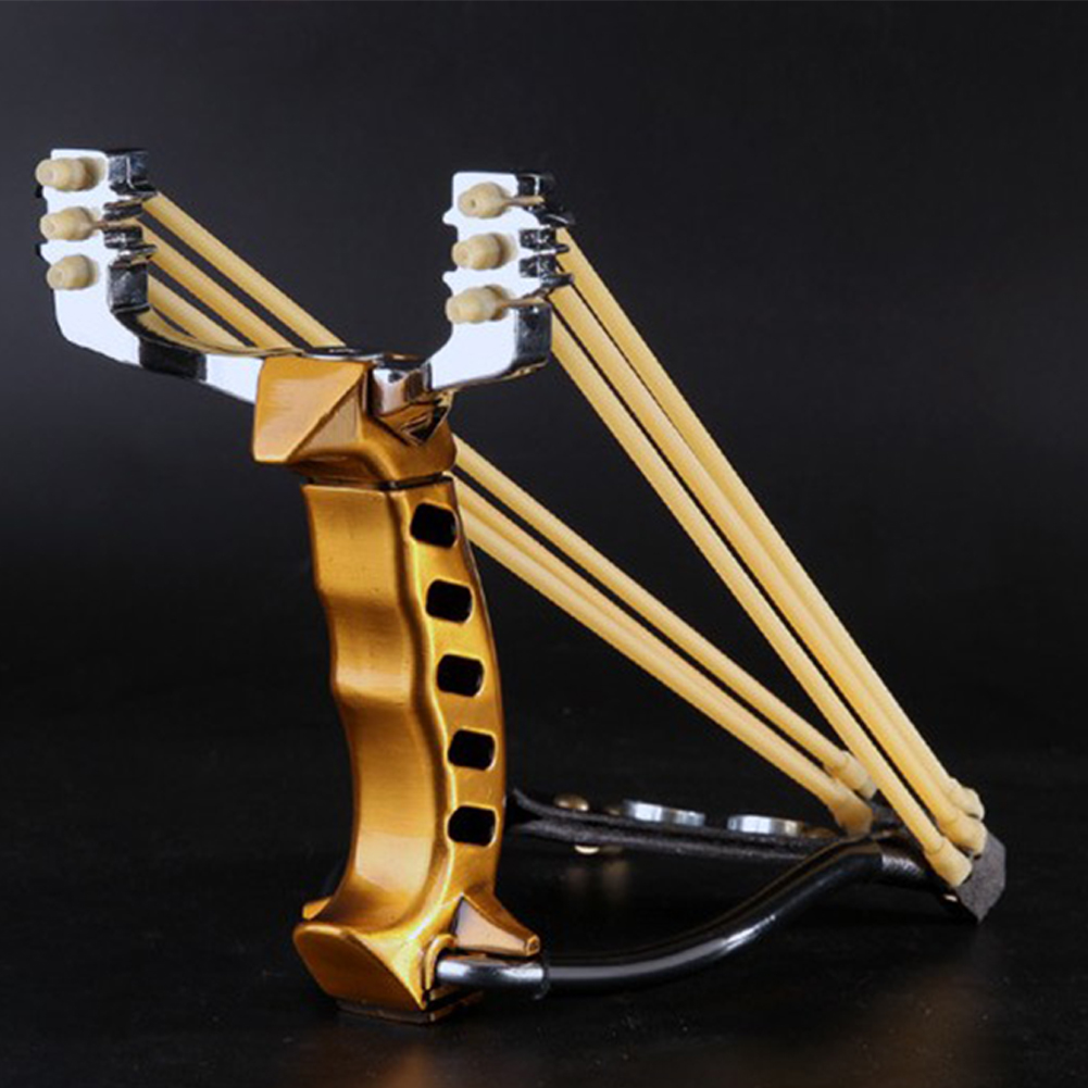 Folding Slingshot Aluminum Shooting Catapult with Rubber ...
