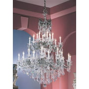 Via Venteo 30-Light Crystal Chandelier (Gold - Crystalique)