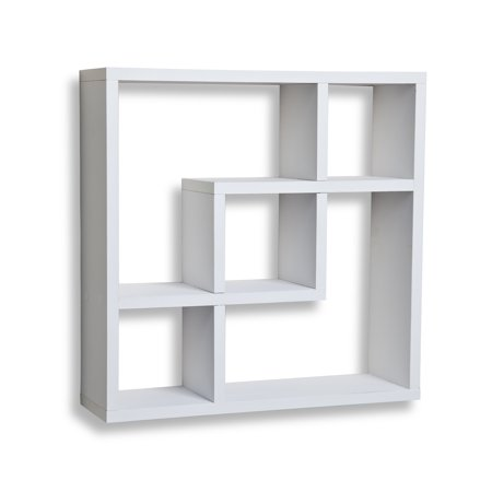 Danya B. Geometric Square Wall Shelf with 5 Openings - -