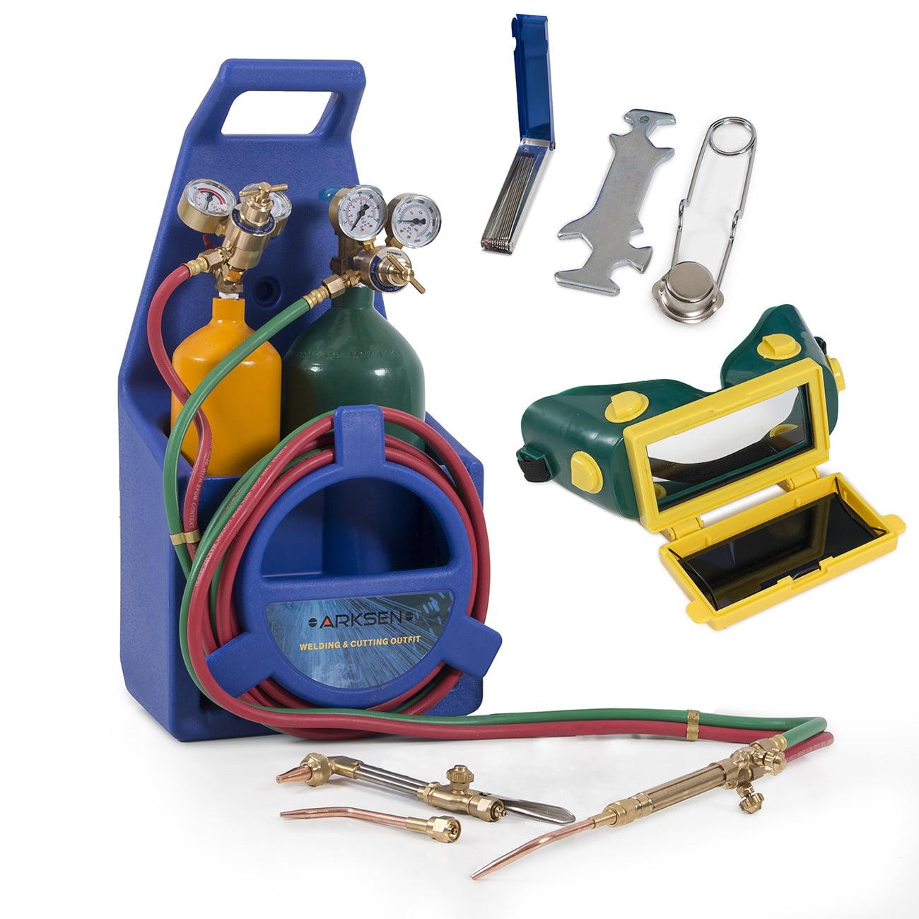 Arksen Professional Torch Kit, Oxygen & Acetylene Oxy w  Tank, Blue by ARKSEN