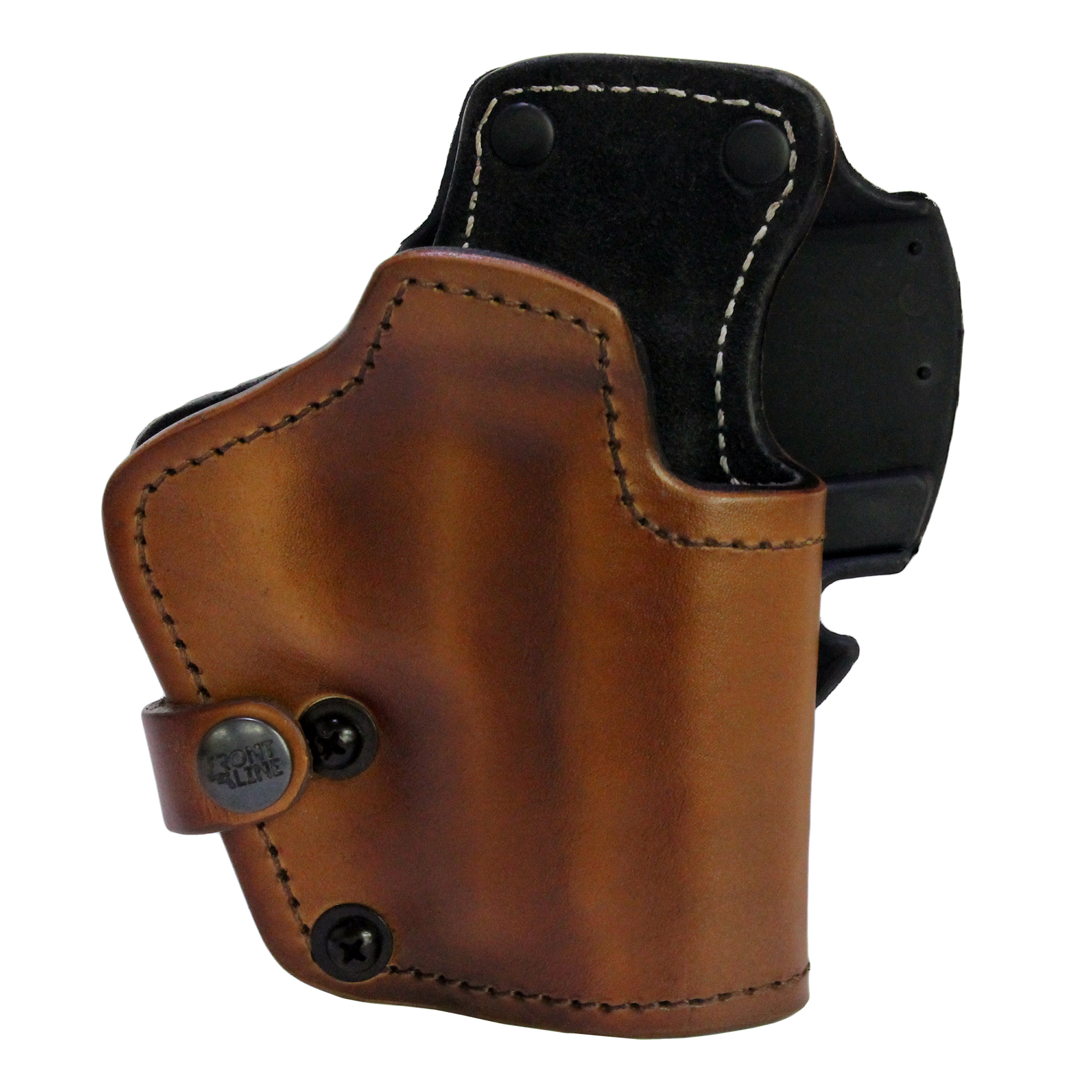 Frontline 3 Layer Synthetic Leather Belt Holster Sig Sauer P228, Brown, Right Hand