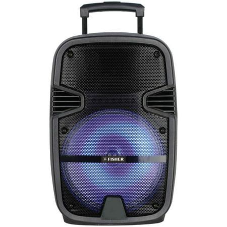 Fisher Bass Jam Portable Speaker 12'' Subwoofer 2600 Watt PMPO Karaoke Input 12' Abs Passive Speaker