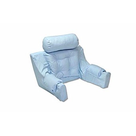 Hermell Products Dl7025bl Deluxe Bed Lounger Reading Pillow Ice Blue