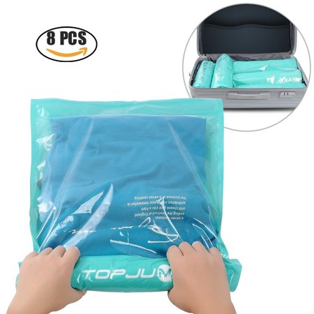 e8874ab2fe17 Space Saver Storage Bags for Clothes. No Vacuum or Air Pump Needed. Travel  8Pack (4 large and 4 Medium) - Walmart.com