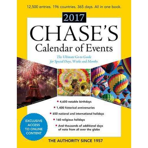 Chase's Calendar of Events : The Ultimate Go-To Guide for Special Days, Weeks and Months