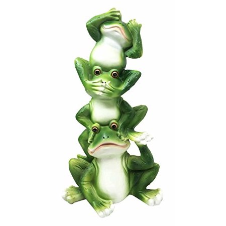 Stacked Wise Toads See Hear Speak No Evil Funny Frogs Figurine Animal Gift Collectible