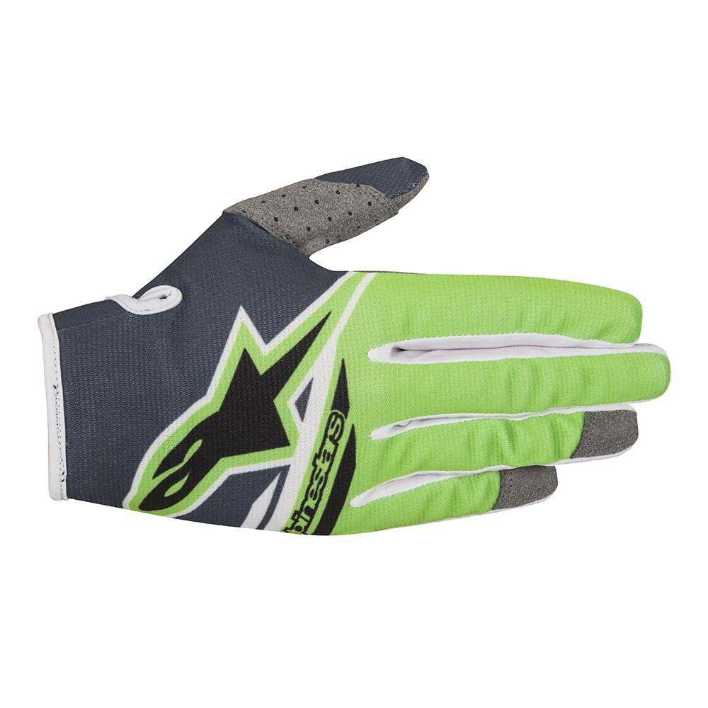 Alpinestars Radar Flight S8 Youth MX Offroad Gloves Green/Anthracite