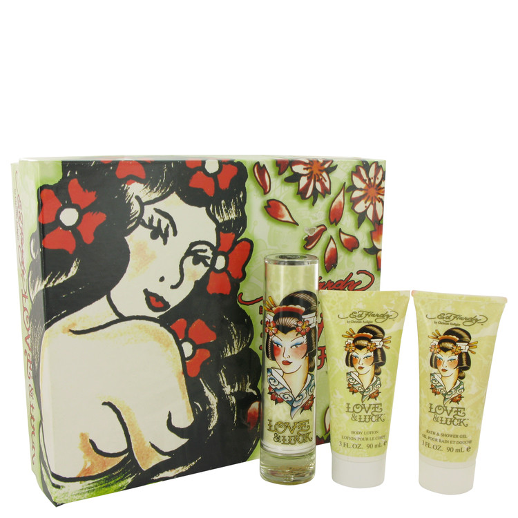 Love & Luck by Christian Audigier - Women - Gift Set -- 1.7 oz Eau De Parfum Spray + 3 oz Body