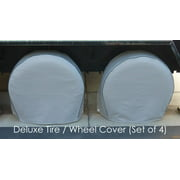 "Covered Living Deluxe tire/wheel covers 27.5""- 30.5"" dia. for RV's, Travel Trailers, Toy Haulers, 5th wheel trailers, Truck, Van, SUV (Set of 4)"