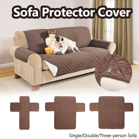 Multi-Size Set Reversible Microfiber Sofa Furniture Cover Protector Waterproof Non-Skid Quilted Pet Recliner Cover Super Affordable ()