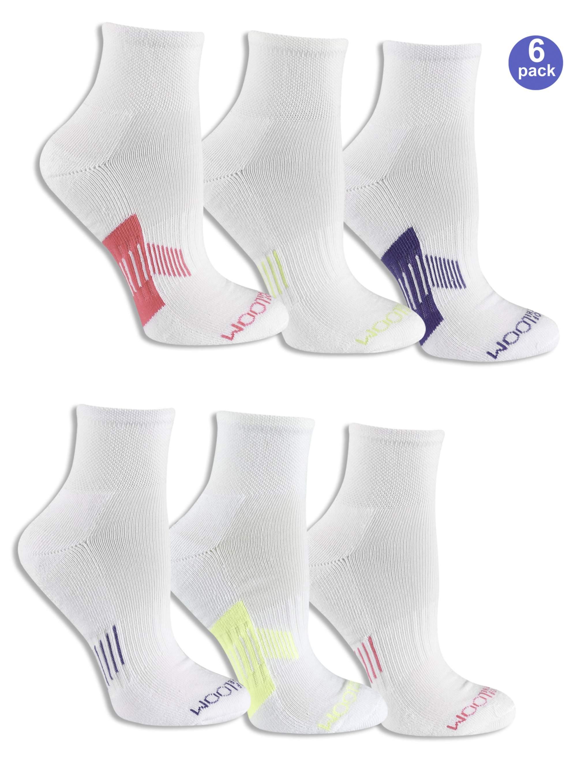 Fruit of the Loom Womens 6-Pair Low Cut Socks