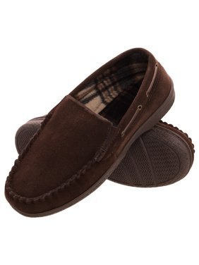0411ecb8b Product Image heat edge mens memory foam suede slip on indoor outdoor  venetian moccasin slipper shoe