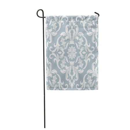 LADDKE Mosaic in The of Baroque Damask Floral Pattern Venetian Garden Flag Decorative Flag House Banner 12x18 inch