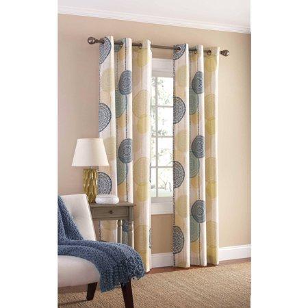 Mainstays Hanging Medallion Grommet Curtain Panels, Set of 2, 80 ...