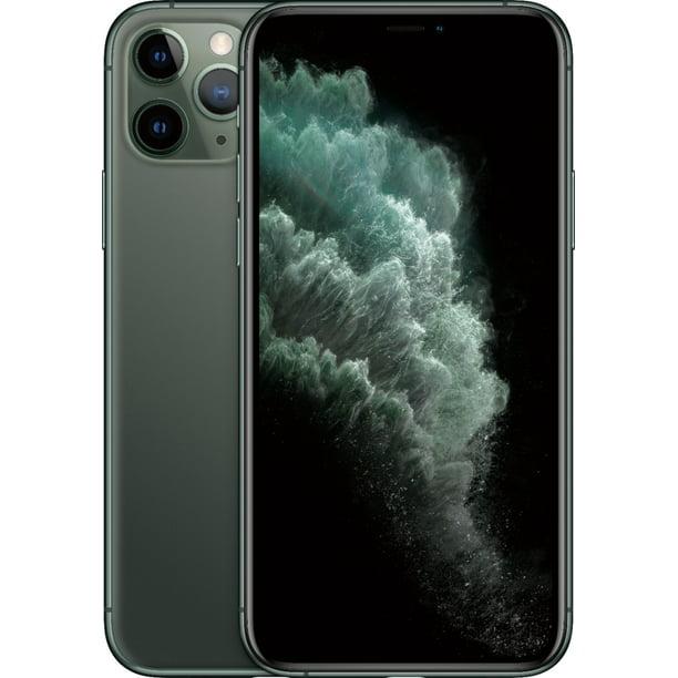 Apple Iphone 11 Pro At T Locked Midnight Green 64gb Certified Refurbished Walmart Com Walmart Com
