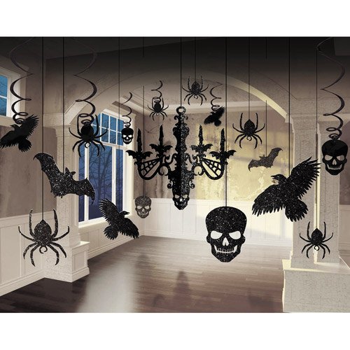 Halloween Glitter Chandelier Kit, 16""