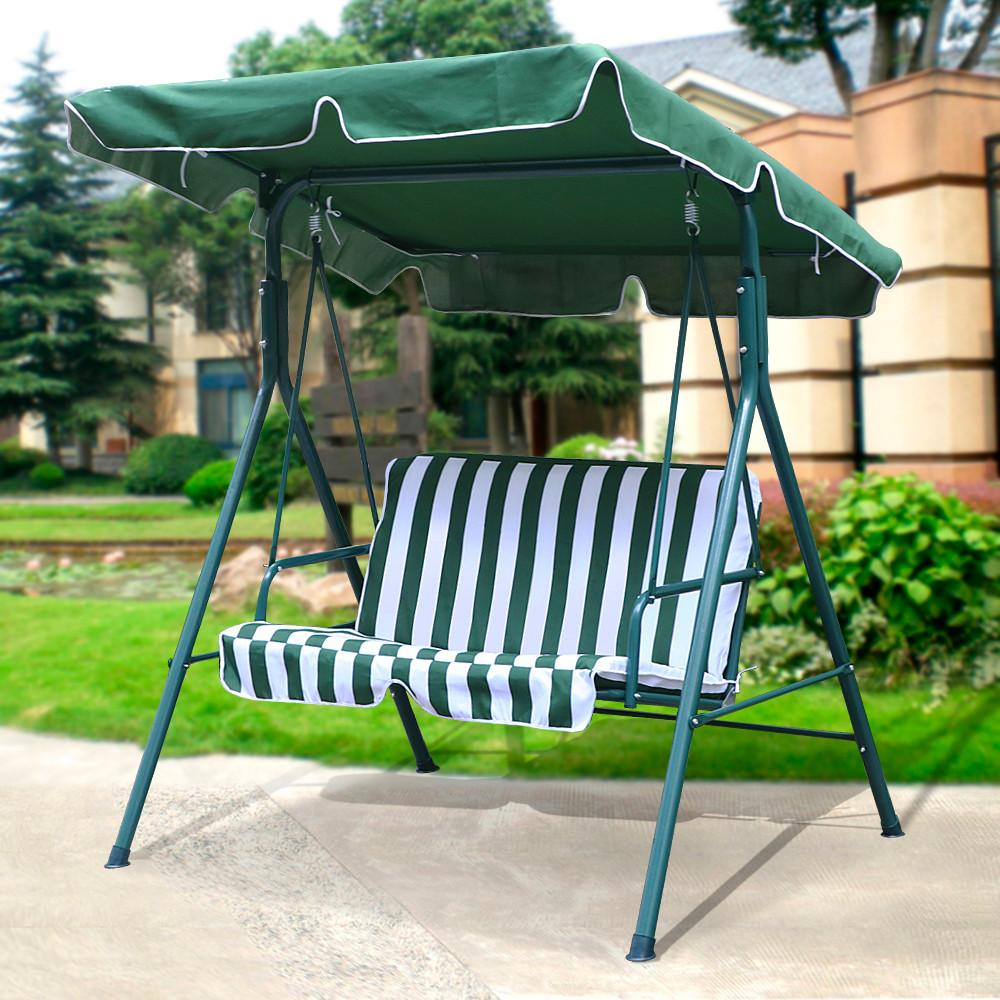 Yaheetech 2 Person Outdoor Patio Yard Swing Canopy with Iron Frame UV Seat Cover 440 Lb & Yaheetech 2 Person Outdoor Patio Yard Swing Canopy with Iron Frame ...
