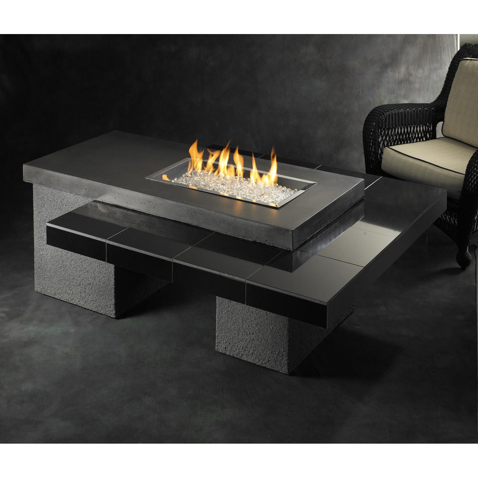 Outdoor GreatRoom Uptown Firepit 60k BTUs by Outdoor Greatroom Company