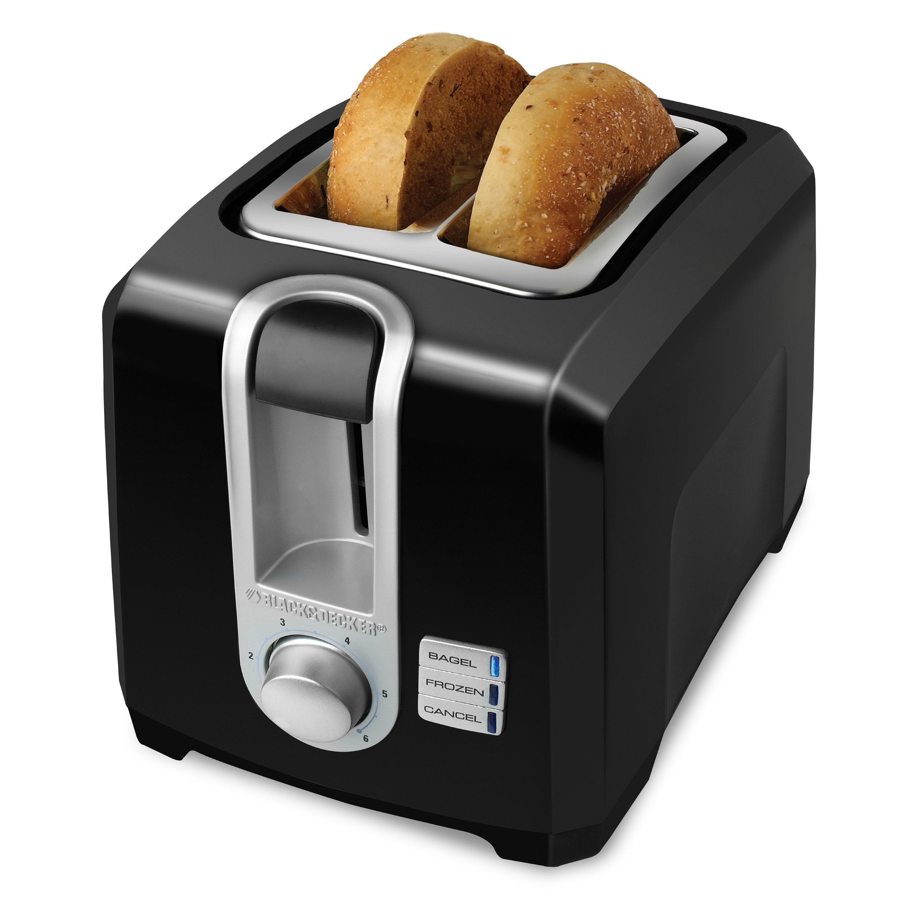 Black & Decker 2-Slice Toaster, Black by Black & Decker