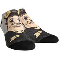 Purdue Boilermakers Rock Em Socks Women's Mascot Low Ankle-Length Socks - S/M