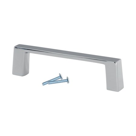 "25 Pack Sleek Square Style 3"" (76.2mm) Inch Center To Center, Overall Length 3-3/8"" Chrome, Cabinet Hardware Pull / Handle"