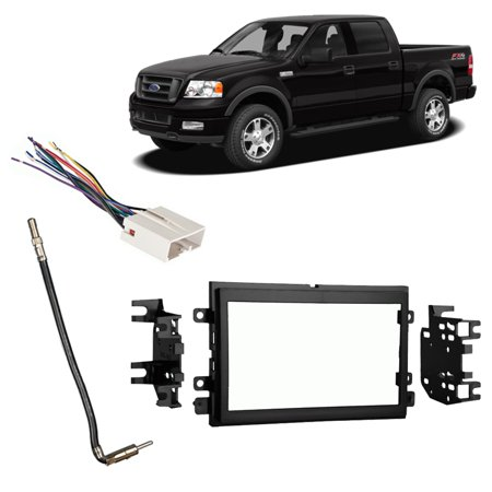 Ford Escort Radio Install Kit (Fits Ford F-150 2007-2008 Double DIN Stereo Harness Radio Install Dash Kit )
