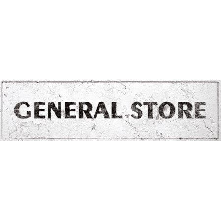 General Store Sign Rustic Farmhouse Country Kitchen with Vintage Shabby Chic On 5x18