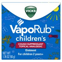Vicks VapoRub Children's Cough Suppressant Chest Rub Ointment, 1.76Oz