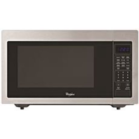 WHIRLPOOL 1.6 CU. FT. COUNTERTOP MICROWAVE OVEN, STAINLESS STEEL, 1200 (Whirlpool 25-2 Cu Ft Side By Side Refrigerator)