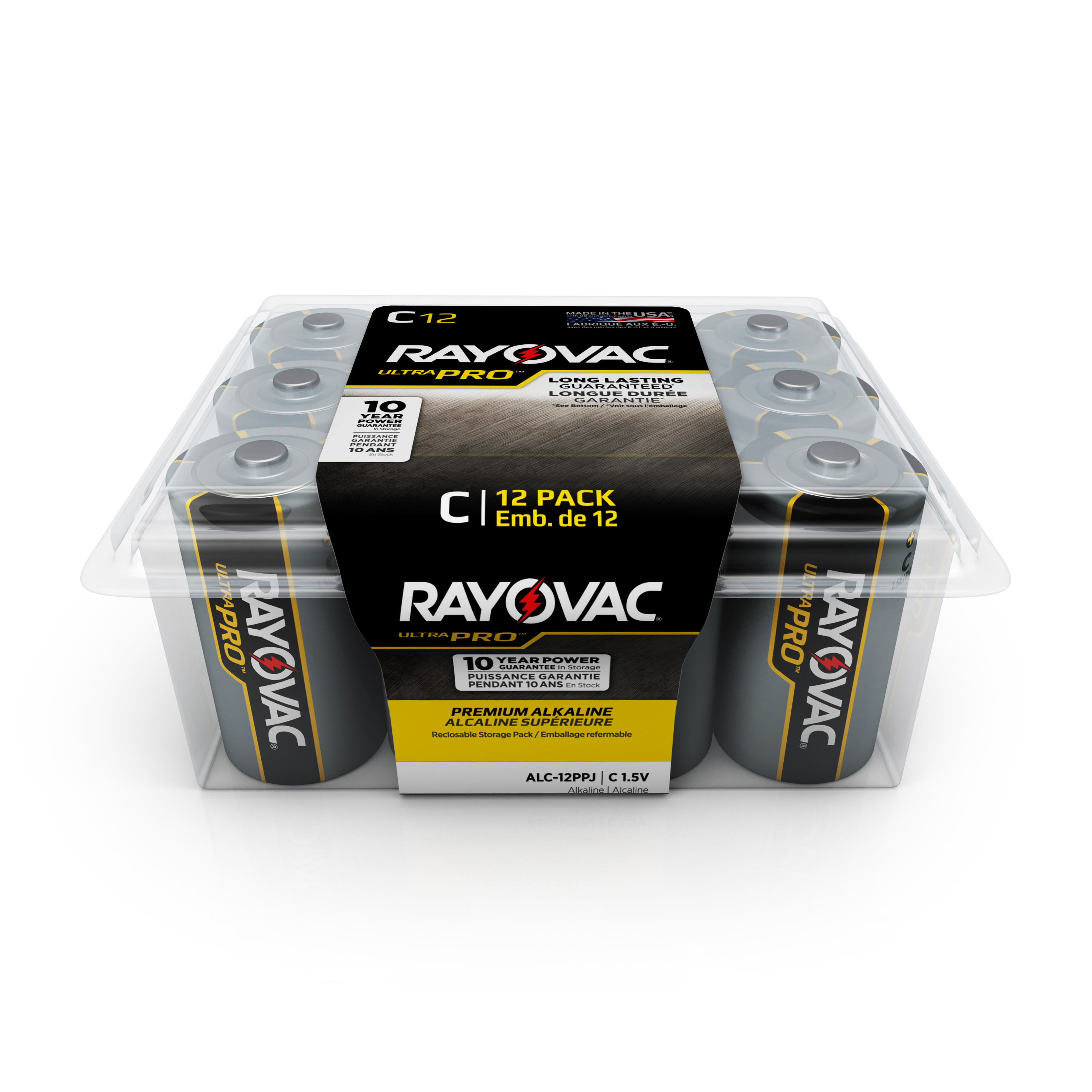 Rayovac UltraPro Alkaline, C Batteries, 12 Count