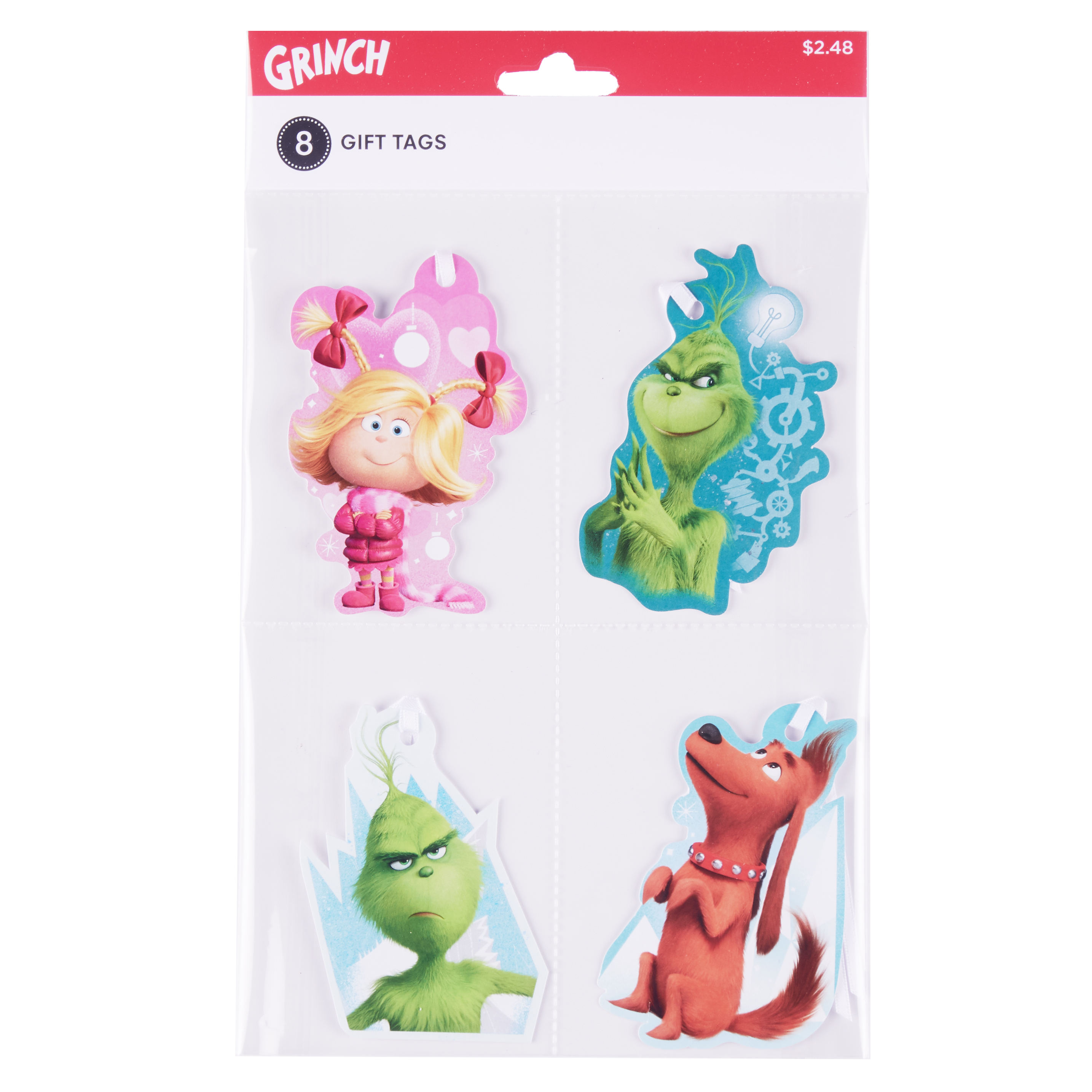 Holiday Time Grinch Gift Tags, 8 Count