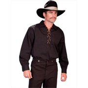 Scully RW021-BLK-S Men Rangewear Shirt - Black, Small