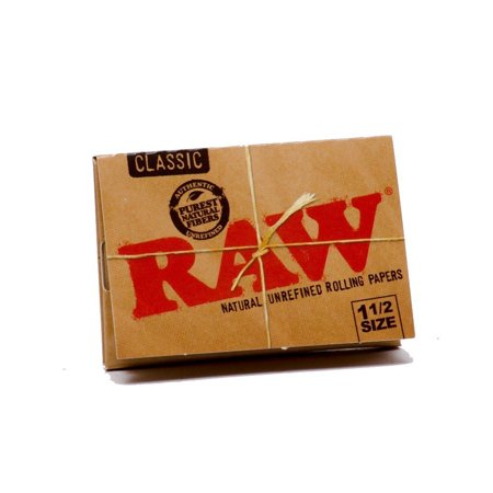 Classic Natural Unrefined Rolling Papers 79mm 1 1/2 Size Pack (1 Pack), RAW Classic Natural Rolling Papers are un flavored and used to turn tobacco or.., By RAW
