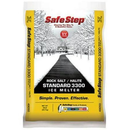 Safe Step 49050 Poly Bag Rock Salt with Halite 3300 Ice Melter, 50