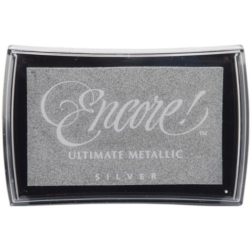 Encore Ultimate Metallic Ink Pad-Silver