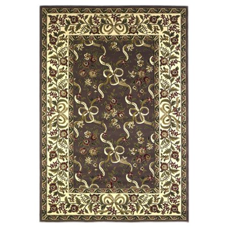 Ivory Plum (KAS Rugs Cambridge Plum / Ivory Floral Area Rug )