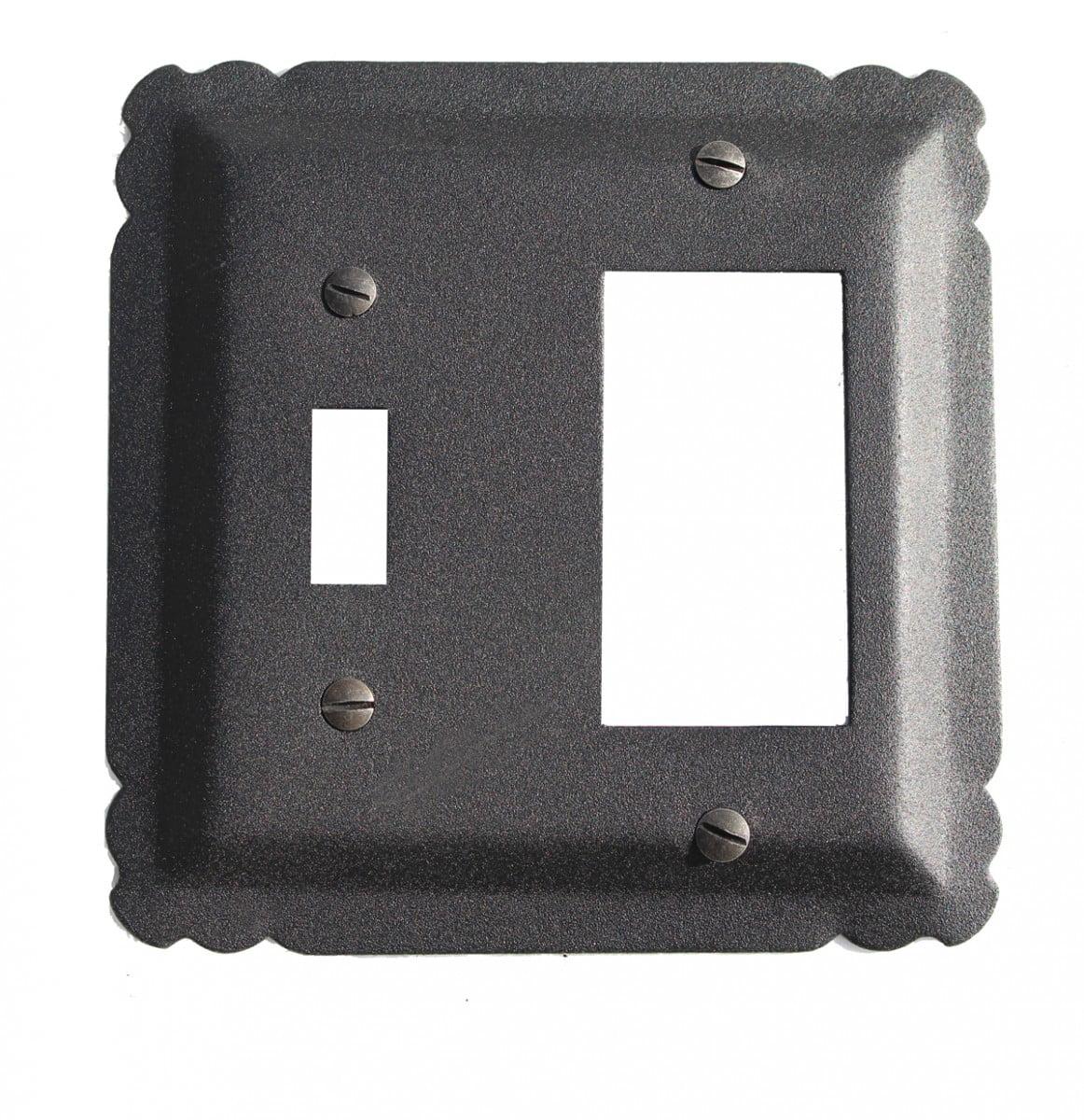 "Switchplate Black Wrought Iron GFI/Toggle 5 1/4"" | Renovator's Supply"